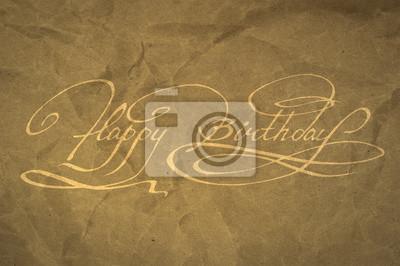 Kalligraphie. Alles Gute zum Geburtstag Hand Schriftzug
