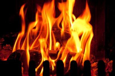 Fototapete Kaminfeuer kaminfeuer fototapete fototapeten brennholz feuerstelle backofen