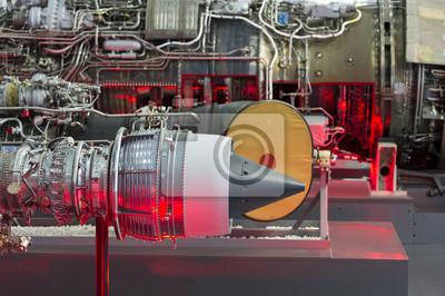 Kämpfer jet und hubschrauber motoren in reihe, interne struktur ...