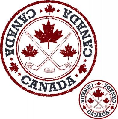Fototapete Kanadischer Hockey-Stempel.