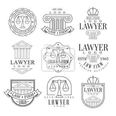 Kanzlei Und Rechtsanwalt Buro Logo Vorlagen Mit Klassischen