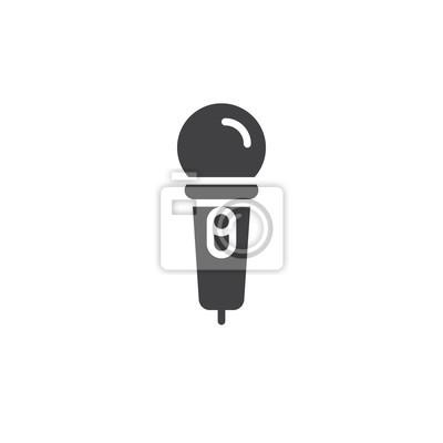 Karaoke-mikrofon-symbol vektor, gefüllt flache zeichen, solide ...