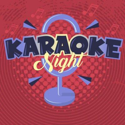 Karaoke-Nacht. Abbildung.