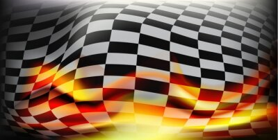 Fototapete Karierte Fahne. Rennfahnen. Hintergrund checkered flag Für