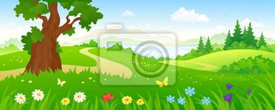 Fototapete Karikatur Wald