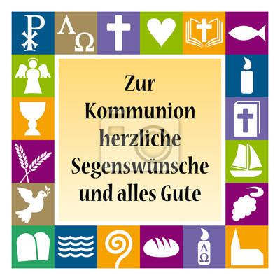 Karte Mit Glückwunsch Zur Ersten Heiligen Kommunion