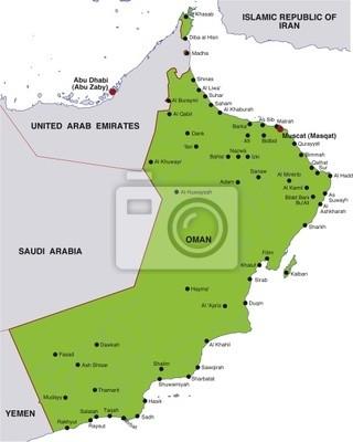 Karte Oman.Fototapete Karte Oman Landkarte Oman
