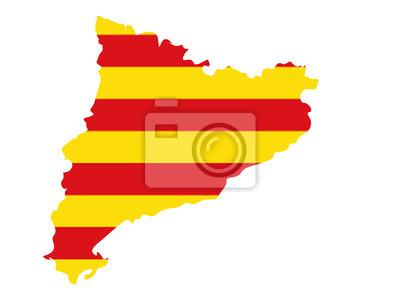 Spanien Katalonien Karte.Fototapete Karte Von Katalonien In Spanien