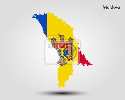 Moldawien Karte.Fototapete Karte Von Moldawien