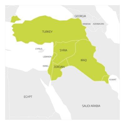 Nahost Karte.Fototapete Karte Von Nahost Oder Nahost Transkontinentalregion Mit Grün