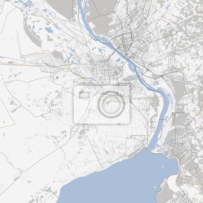 Karte Von Novosibirsk Russland Strassen Fototapete Fototapeten