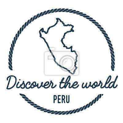 Peru Karte Umriss.Fototapete Karte Von Peru Vintage Entdecken Sie Die Welt Stempel Mit Peru Karte
