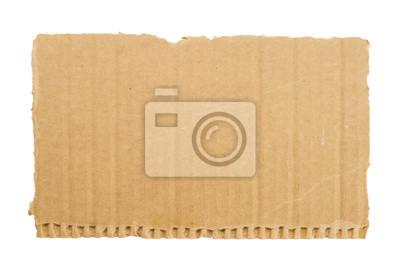 Karton Stücke auf weißem Hintergrund