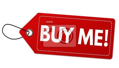 Kaufen Sie Mich Etikett Oder Preisschild Fototapete Fototapeten