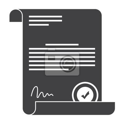 Kaufvertrag oder vertrag mit stempel und unterschrift fototapete ...