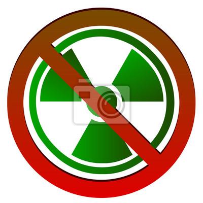 Keine radioaktiven Symbol