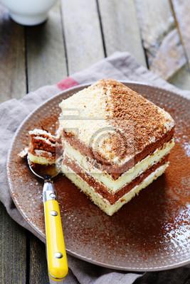 Keks Kuchen Zwei Farben Fototapete Fototapeten Nussbaum Stuck
