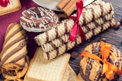 Fototapete Kekse auf dem Tisch
