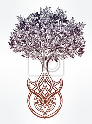 Keltische Baum Des Lebens Illustration Fototapete Fototapeten