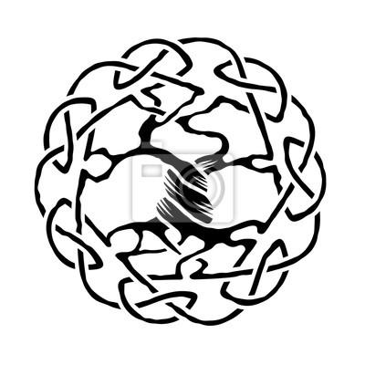 Keltischer Baum Des Lebens Fototapete Fototapeten Weberei Knoten