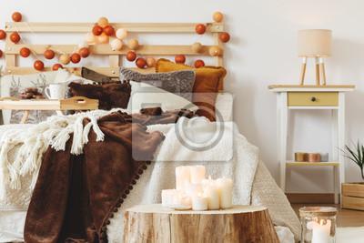 schlafzimmer kerzen, kerzen im schlafzimmer fototapete • fototapeten wattebällchen, Design ideen
