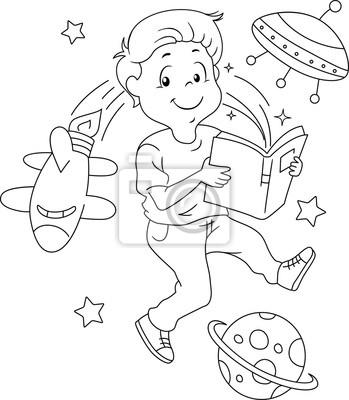 Kid Buch Raum Malvorlage Fototapete Fototapeten Kindertagesstatte