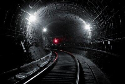 Fototapete Kiew U-Bahn-Tunnel