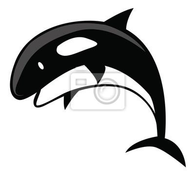 Fototapete: Killer whale cartoon