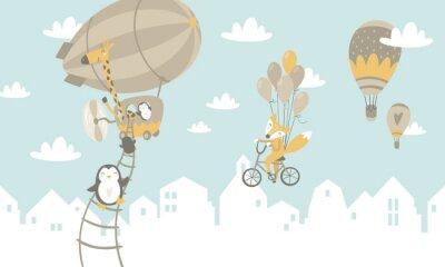 Fototapete Kinder Grafik Illustration. Unter Verwendung für Druck auf der Wand, Kissen, Dekoration scherzt Innenraum, Babyabnutzung und Hemden, Grußkarte, Vektor und andere