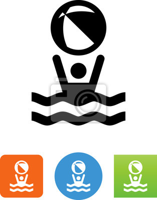 Kinder-pool-icon - illustration fototapete • fototapeten Glyphen ...