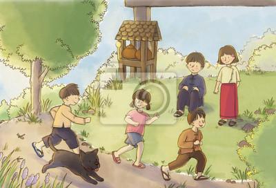 Kinder von Asien Spielen