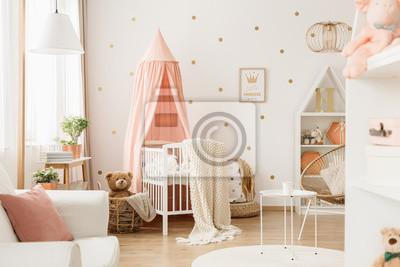 Kinderzimmer mit punkten fototapete • fototapeten tragen, teddie ...