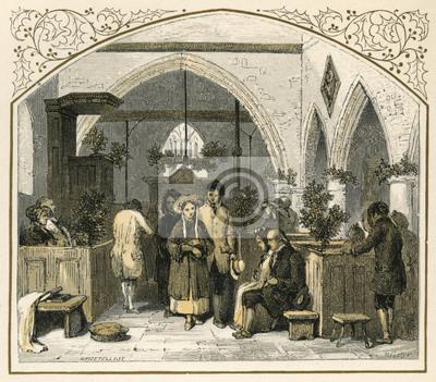 Weihnachten Datum.Fototapete Kirche Zu Weihnachten Datum 1869 Jahrhundert