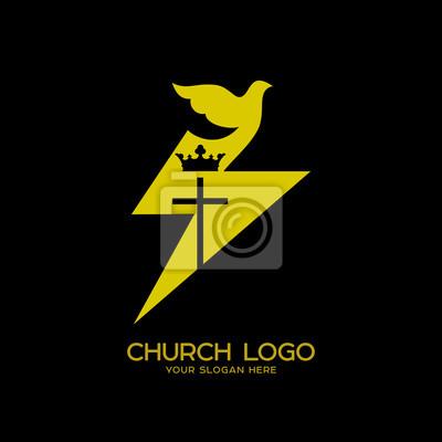 Kirchenlogo Christliche Symbole Taube Ein Symbol Des Heiligen