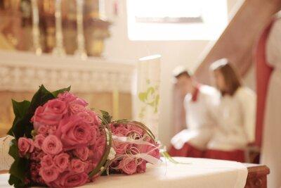 Kirchliche Trauung Brautstrauss Fototapete Fototapeten Standesamt