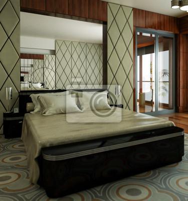 Klassische schlafzimmer (fokus) fototapete • fototapeten appartment ...