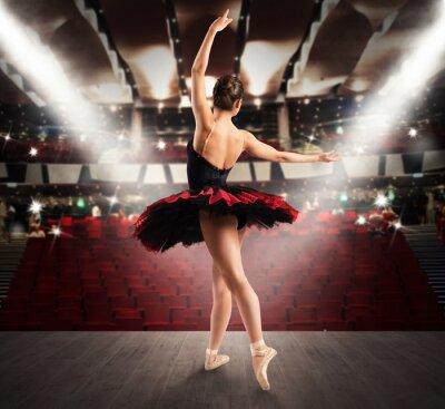 Fototapete Klassische Tänzerin im Theater
