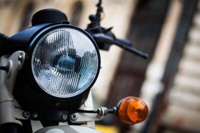 Fototapete Klassischer Motorradscheinwerfer