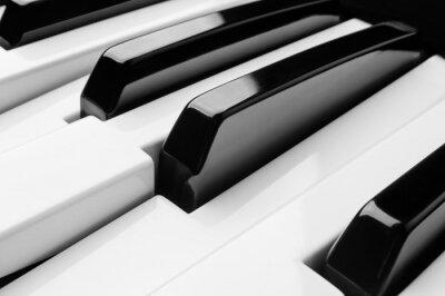Fototapete Klavier-Schlüssel