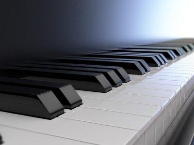 Fototapete Klaviertastatur