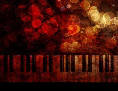 Fototapete Klaviertastatur Grunge Hintergrund Illustration
