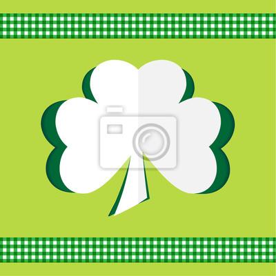 Klee-Karte glücklich St.Patrick 's Day