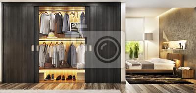 Kleiderschrank im schlafzimmer fototapete • fototapeten bag, Möbel ...