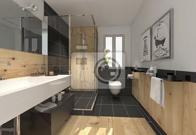 Attraktiv Fototapete Klein Raffiniert Modern Bad Badezimmer Duschbad Minibad