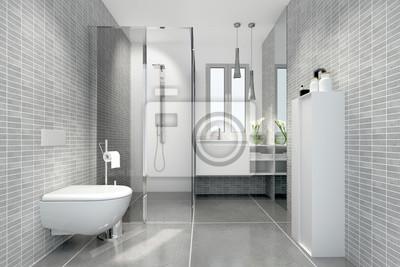 Lieblich Fototapete Klein Raffiniert Modern Bad Badezimmer Duschbad Minibad