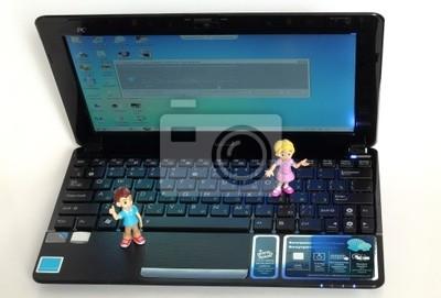 Kleine Computer Ist Ein Netbook Fototapete Fototapeten Kennwort