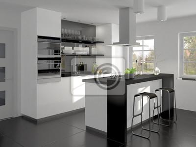 Kleine Einbaukuche Mit Kleiner Kochtheke Fototapete Fototapeten