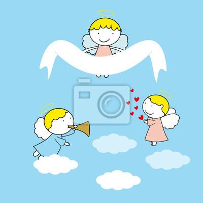 Kleine Und Süße Engel Fototapete Fototapeten Flügel Fest Engel
