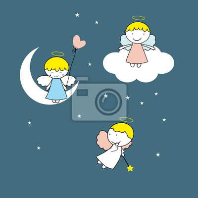 Kleine Und Süße Engel Fototapete Fototapeten Nubes Flügel Fest