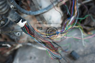 Kleiner draht elektrisch in weichem licht fototapete • fototapeten ...